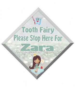 Tooth Fairy Stop Here Window Sign